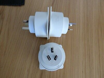 AU5.42 • Buy Electrical Travel Adaptor UK To Australia Convertor (set Of 3)