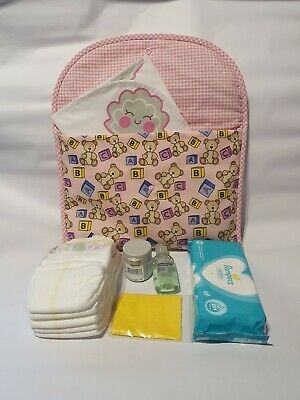 AU18.45 • Buy Pink Bears Travel Baby Changing Bag & Accessories