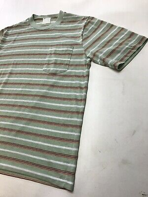 $ CDN35.18 • Buy Vintage 70's Striped Skate Surf T Shirt Pocket Size M / L