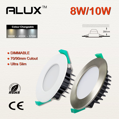 £8.19 • Buy LED Recessed Ceiling Light Dimmable Colour Changeable Downlights IP44 Waterproof