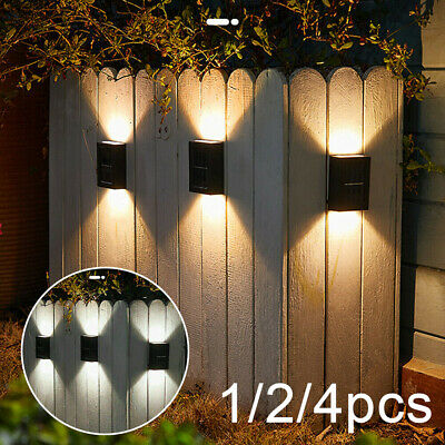 £9.68 • Buy Up And Down Solar Wall Lights Waterproof Garden Front Door LED Fence Yard Lamp