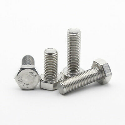 $13.25 • Buy M7 Hexagon Head Bolts 304 Stainless Steel Hex Head Screws Pitch 1.0