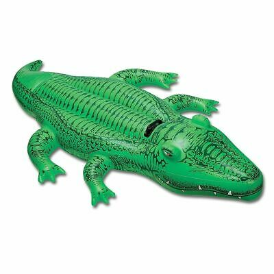 Inflatable Crocodile 150cm Blowup Animal Reptile Beach Child Jungle Party Toy UK