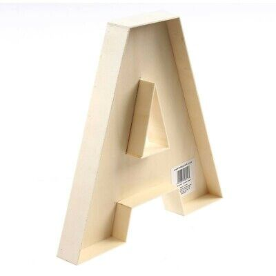 £5 • Buy Wooden Fillable Letter A 22cm, Crafting, Home Decor, DIY.