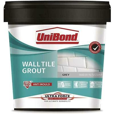 £12.70 • Buy UniBond UF Anti-Mould Wall Tile Grout 1.38kg Ready Mixed Waterproof 3.2 M2 Grey