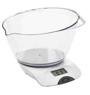 £13.15 • Buy Hanson Electronic Kitchen Scale With Transparent Bowl - 5 Kg / 2 Litre - White