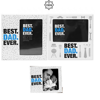 £3.99 • Buy BEST DAD EVER PHOTO FRAME PICTURE Birthdays Grandad Father's Day Gifts P735012