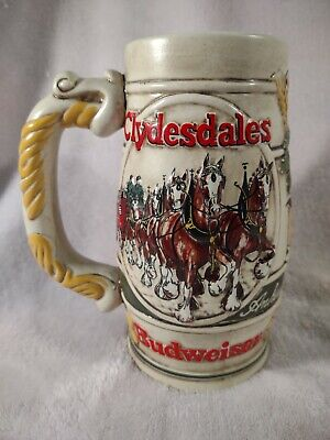 $ CDN6.05 • Buy Vintage Ceramarte 1983 Budweiser Clydesdale Holiday Series Beer Stein Mug
