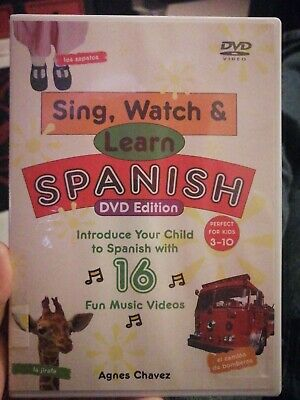 £6 • Buy Song, Watch And Learn Spanish DVD. Age 3-10. 16 Songs Included. Agnes Chavez.
