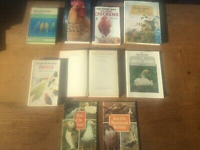 £29.99 • Buy Joblot 9 Bird Books Coast Mountains Swan Geese Cage Aviary Budgies Keep Chickens