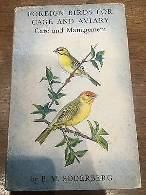 £7.99 • Buy Bird Book Foreign Birds For Cage & Aviary Care & Management By PM Soderberg