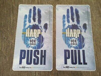 £4.99 • Buy Harp Lager Ice Cold Stickers Door Push/Pull *Rare* Made By Guinness