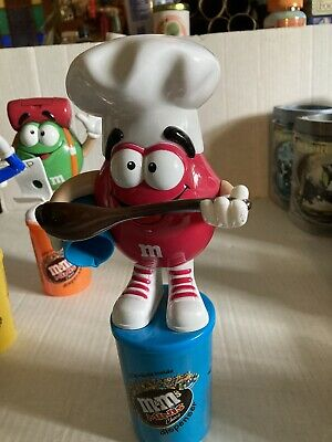 $22.99 • Buy RARE EUROPEAN M&M's MINIS Choco Red Chef Candy Dispenser - Red
