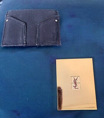 £10 • Buy Gold Coloured Designer YSL Handbag Hand Mirror In Case