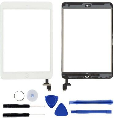 £9 • Buy For Black IPad Mini 1/2 Touch Glass Digitizer Screen Replacement +IC Home Button