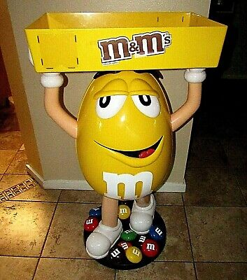 $215 • Buy Yellow M&M Character Candy Store Display W/ Storage Tray Austin Texas Pickup