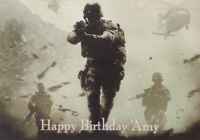 £3.25 • Buy Personalised Home Made Birthday Card - Call Of Duty