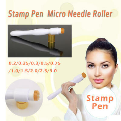 AU19.99 • Buy 0.5MM Microneedle Stamp Derma Pen MICRO NEEDLE SKIN Roller 40 Titanium Gold Need
