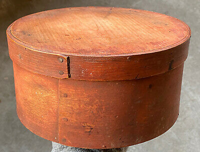 """$ CDN604.59 • Buy Early 1800's Antique Salmon Pantry Box 8"""" Old Bittersweet Pantry Box Fantastic"""
