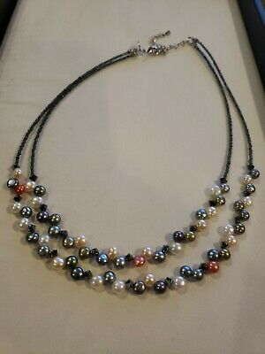 $ CDN13.30 • Buy Lia Sophia Tahitian Fresh Water Pearls 16-19  Crystals, New Without Tags
