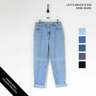 £20 • Buy Vintage Levis 550 High Waisted Womens Relaxed Tapered Mom Jeans (grade B) W25...