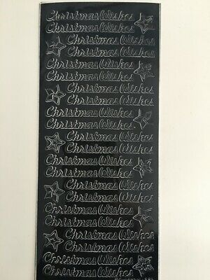 £2.19 • Buy Peel Off Stickers - Christmas Wishes -  Black - 594