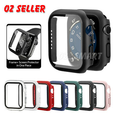 AU7.89 • Buy For Apple Watch IWatch Series SE 6 5 4 3 2 1 Case Full Glass Cover 38 40 42 44mm