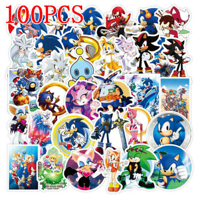 £3.99 • Buy 50x Sonic The Hedgehog Stickers For Balloon Loot Bag Supplies Birthday Party New