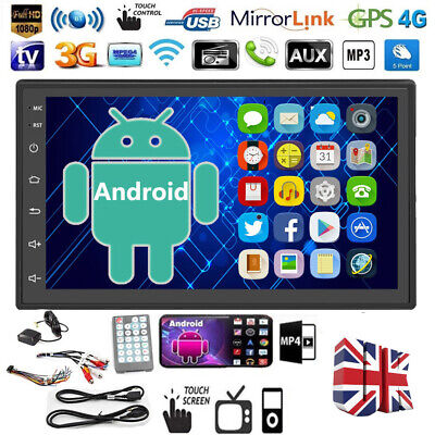 £69.99 • Buy 7  Double 2Din Android 9.0 Car Stereo Radio Touch Screen Bluetooth FM MP5 Player