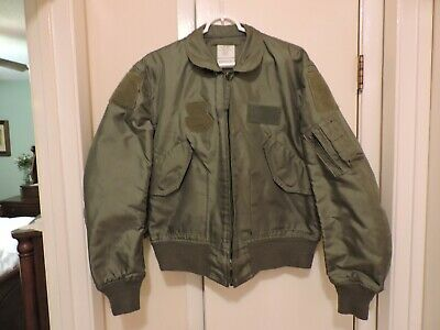 $ CDN24.14 • Buy Military Cwu-36/p Summer Flight Jacket Mens Large 42-44 Fr Aramid Army Usaf Navy