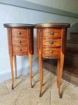 £590.75 • Buy French Bedside Cabinets, Circular Louis XVI Style Side Tables