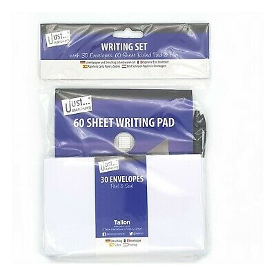 £2.99 • Buy  Just Stationery Writing Set - Lined Pad Pen And 30 Envelope Set Letters