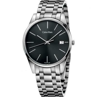 £243.42 • Buy Mens Wristwatch CK CALVIN KLEIN TIME K4N21141 Stainless Steel Black SWISS MADE