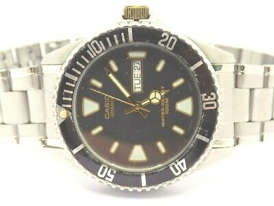 £2.70 • Buy CASIO  MTD-1043 Sub-Mariner/Divers Style Stainless Steel Gents Watch WR100M