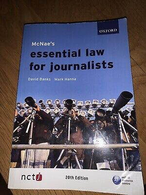 £5 • Buy MCNAE's Essential Law For Journalists By Mark Hanna, David Banks (Paperback,...