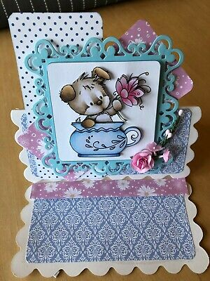 £1.65 • Buy Handmade Easel Mothers Day/Birthday Card  - Lots Of Detail - Cute Dog