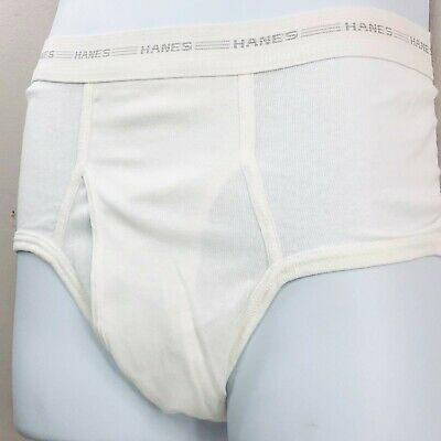 £14.19 • Buy Vintage Hanes Briefs 32 Mens Underwear White Cotton New With Tags