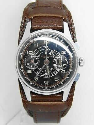 $ CDN845.37 • Buy Watch Chronographe Suisse Movement Landeron Beautiful Dial, Vintage Chrono 1950
