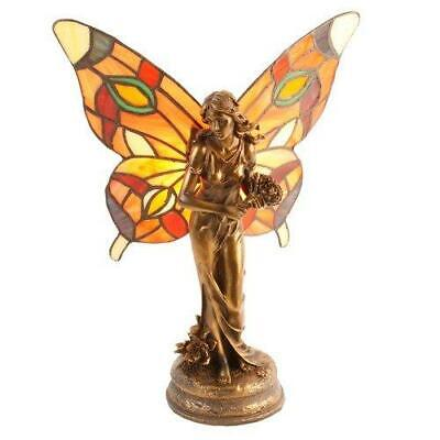 £99.99 • Buy Art Deco Style Butterfly Angel Fairy Tiffany Stained Glass Table Lamp