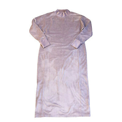 £19.80 • Buy M&S Marks And Spencer Lounge Wear Womens Soft Pink Velvet Dress Gown Size 12UK
