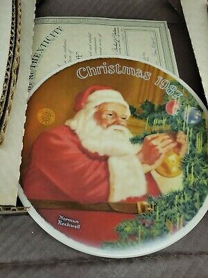 $ CDN24.25 • Buy Christmas 1987 Saints Golden Gift Norman Rockwell Plate. Knowles Fine China