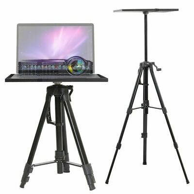AU43.99 • Buy Black Aluminum Tripod Projector Stand Adjustable Laptop Stand With Tray 15 X11