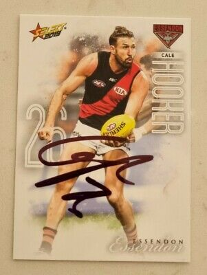 AU7.50 • Buy Cale Hooker Essendon Afl Football Signed Select Card Bombers