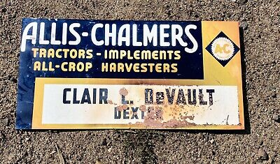 AU35 • Buy Allis Chalmers Tractor Implements Advertising Metal Sign