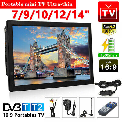 """£109.99 • Buy 7/9/10/12/14"""" Portable TV With Freeview HDMI 1080P HD Digital Television Player"""