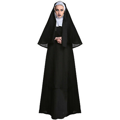 $ CDN38.07 • Buy Women Sexy Bad Habit Nun Costume With Stocking Religious Easter Halloween Dress,