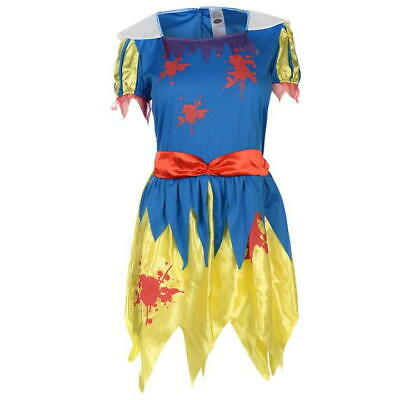 $ CDN17.02 • Buy Snow White Fright Halloween Costume Ladies Small 8-10 Fancy Dress With Headband