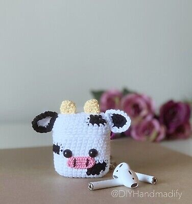 $ CDN9.99 • Buy Cow AirPods Case Cover Cute. Handmade With Love. AirPods 12 Case.