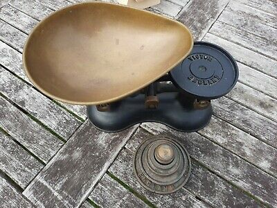 £30 • Buy Vintage Style Weighing Scales Victorian Black Cast Iron Heavy X6 Weights