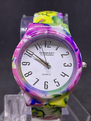 $ CDN1.20 • Buy Embassy Women's Floral White Dial Analog Bangle Watch #36